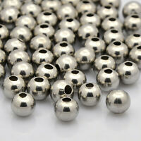 100pc 304 Stainless Steel Round Spacer Beads For Jewelry Making 3x2mm Hole 1.2mm