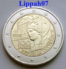 Oostenrijk speciale 2 euro 2018 100 jaar Republiek UNC