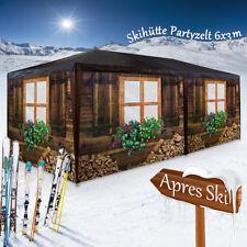 Partyzelt Almhütte Festzelt 3x6m Pavillon Holzhütte Gartenzelt Zelt Apres Ski