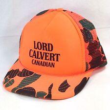 Lord Calvert Canadian Whiskey Hunter Blaze Orange Camo Mesh Snapback Trucker Hat