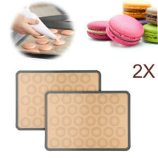 2X Silicone Pastry Cake Macaron Macaroon Oven Baking Mould Sheet Mat Non-Stick
