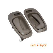 Pair Inside Door Handles Left&Right Beige Power Lock Hole 69206-02060 For Toyota