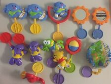 Vtg Lot 12 Fisher Price Circle Round Connector Replacement Toy Rattles Bath Play