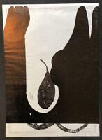 Nikolaus Cinetto, Druck Nr. II, Holzschnit auf Transparentpapier, 1996, signiert