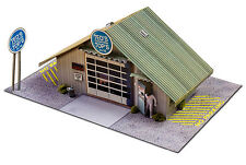 1/64 Slot Car HO Commercial Garage Photo Real Kit Track Layout Accessories Model