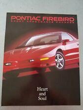 1996 Pontiac Firebird Sport Package  Brochure 93 94 95 🔥 dealer sheet