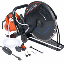 Electric Cut Off Saw Wetdry Concrete Saw Cutter Guide Roller Tools With 14 Blade