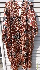 MUMU 1X 2X 3X  SANTE KAFTAN CAFTAN HOUSE DRESS BROWN BLACK TAN GIRAFF MUU