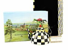 Mackenzie Childs Courtly Check Tea Strainer NEW IN BOX Classic Mackenzie Childs