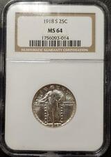 1918-S STANDING LIBERTY QUARTER - NGC - MS 64 - #014