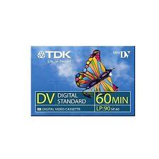 1 TDK Mini DV 60 Camcorder Tapes