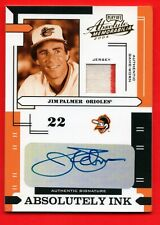 JIM PALMER 2004 PLAYOFF ABSOLUTELY INK AUTO JERSEY 2CLR #D 1/100 1/1 ORIOLES HOF