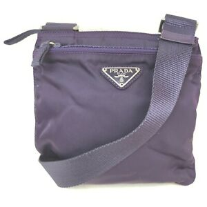 Prada Shoulder Bag  Purple Nylon 707797