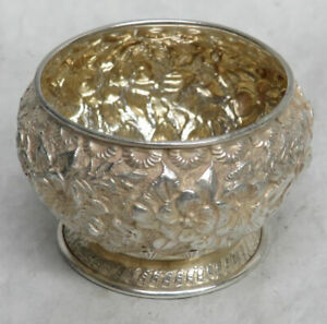 TIFFANY & CO STERLING SILVER REPOUSSE SALT DISH