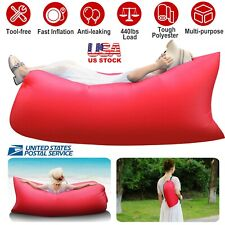 Inflatable Lounger Air Sofa Couch Beach Bed Lazy Chair Sleeping Anti-Leaking New