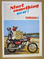 1967 Yamaha Bonanza 180 Motorcycle photo vintage print Ad