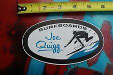 JOE QUIGG Surfboards 1960's Rare Original Paper Surfboard Laminating DECAL Lam