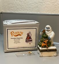 Midwest Of Cannon Falls Rudolph Phb Abominable Snowman Porcelain Hinged Box 1999