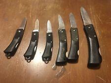 SCHRADE FOLDING POCKETKNIFE-USA MADE knife lot 6 knives total