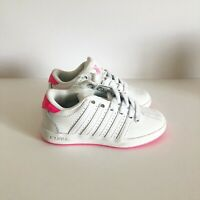 New K-Swiss Kids Youth Girls Classic Shoes Sneakers  White & Pink Size 10.5