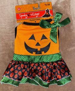 Pumpkin Dress Halloween Pet Dog Costume - Size Small - New
