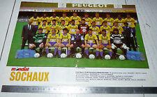 CLIPPING POSTER FOOTBALL 1988-1989 FC SOCHAUX MONTBELIARD FCSM BONAL LIONCEAUX