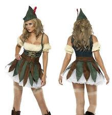 Smiffys Women's Fever Sexy Outlaw Adult Ladies Robin Hood Costume Medium 10-12