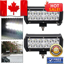 2x 7INCH 36W 12V  LED WORK LIGHT BAR FLOOD OFFROAD ATV FOG TRUCK 4WD VS SPOT