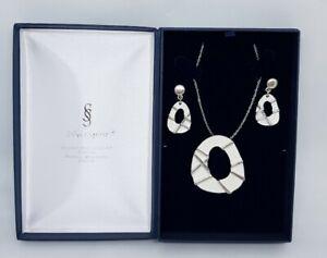 Silver Spirit Celtic Jewellery Set Pendant & Earrings New