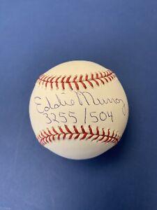 Eddie Murray 3255 Hits/504 HRs HOFer Signed Official ML Baseball w/ B&E Hologram