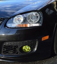 Yellow Fog light Overlays Vinyl tint R32 MKV JETTA GTI for 06-09 VW Golf MK5