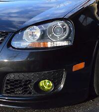 06-09 VW Golf MK5 Yellow Fog light Overlay Vinyl tint Precut R32 MKV JETTA GTI