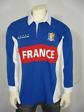 ROOK FRANCE RUGBY WORLD CHAMPIONSHIP 2 BUTTON LONG SLEEVE POLO SHIRT MEN'S L