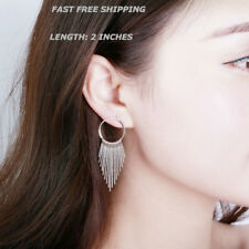 New Women Fashion Jewelry 925 Sterling Silver Plated Hoop Dangle  Stud Earrings