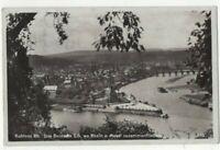 Koblenz Rhein Das Deutsche Eck Germany 1935 RPPC Postcard US129
