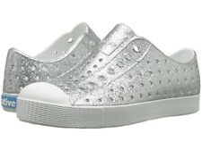 Native Jefferson Silver Bling Shell White Shoes J3