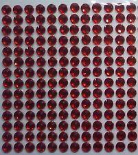 160 STRASS ADESIVI COLORE ROSSO 6 mm CORPO UNGHIE NAIL ART DECORAZIONI
