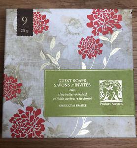 Pre de Provence shea butter enriched guest soaps in box, 9 ct, 25g soaps
