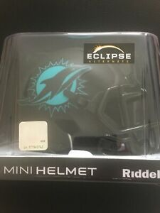 Nfl Miami Dolphins Black Eclipse Mini Helm- Neu