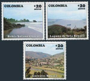 Colombia C717-C719,MNH.Mi 1559-1561. Tourism 1982.Solano Bay,Tota Lake,Corrales.