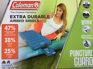 Coleman Extra Durable Airbed Single Luftbett 198 x 82 x 22 cm Campingbett Bett