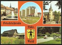 Postcard East Germany Thuringia Friedrichroda Architecture Multiview - posted