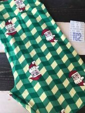 NEW LuLaRoe Christmas Checkered Santa Clause Leggings Tall & Curvy Tc2 Green