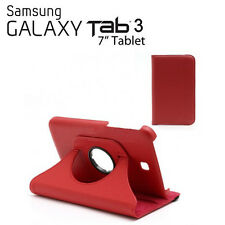 """FUNDA + PUNTERO TABLET SAMSUNG GALAXY TAB 3 7.0 T210 P3200 7"""" GIRATORIA ROJO"""