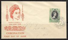 UK  British Honduras Old FDC Cover Elizabeth II Coronation 1953