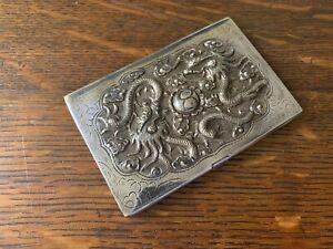 Silver Vietnamese Business Card Holder