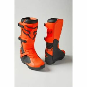 Fox Racing Comp Motocross Boots - Flo Orange Mens Save $$