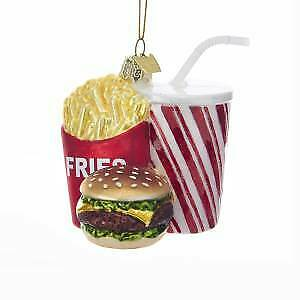 Noble Gems™ Glass Fast Food Combo Ornament w