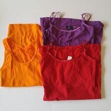 Deb/Arizona Jeans Womens Lot of 3 Tank Top Cami Camisole Small Red Purple Orange