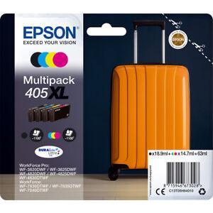 Epson 405XL Multi Pack Original OEM Inkjet Cartridges (Set of 4) B,C,M & Y
